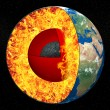 Stock Photo: Earth core