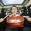 Businessman grasped in hostages. - Stok fotoğraf
