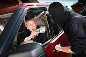 Robbery of the businessman — Stock Photo
