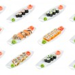 Sushi (Roll Assorted) on a white background — Stock Photo