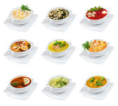 Soups isolated — Stock Photo