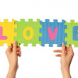 Stock Photo: Word love