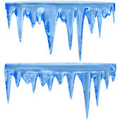 Blue icicles — Stockfoto