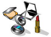 Los temas del maquillaje — Vector de stock