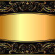 Stock Vector: Illustration background pattern gold