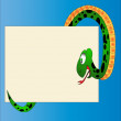 Amusing snake reads message — Stock Vector