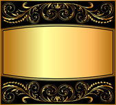 Illustration background pattern gold — Stock Vector