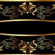 Royalty-Free Stock Vector Image: Frame from gild with pattern on black
