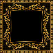 Stock Photo: Illustration frame background gold(en) pattern