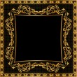 Illustration frame background gold(en) pattern — Stock Photo