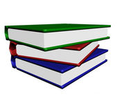 The Pile of the books on white. — Stock Photo