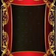 Illustration background frame with gold - Zdjęcie stockowe