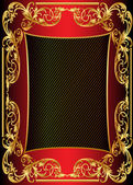 Illustration background frame with gold — 图库照片