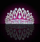 王冠女性与黑的思考 — 图库照片