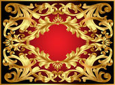 Background frame with gold pattern — Stock Photo