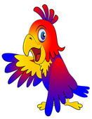 Amusing parrot reasons — Stock Vector