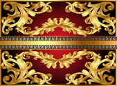 Background with gold pattern — Stock Vector