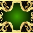 Frame with gold pattern and band - Stock Vector