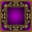 Illustration frame with gold pattern - Grafika wektorowa