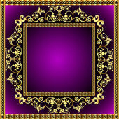 Illustratie frame met gouden patroon — Vector de stock