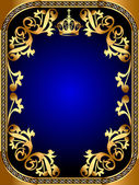 Background frame with gold pattern — Stock Vector