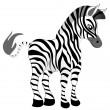 Making look younger nice zebra — Stock Vector
