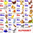 Royalty-Free Stock Vector Image: Animals placed on letter of the alphabet