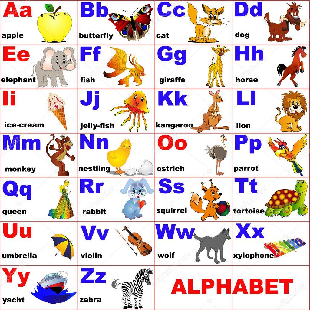Worksheet Alphabetical Letters animals placed on letter of the alphabet stock vector yurkina illustration