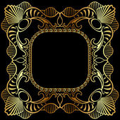 Winding gold pattern frame — Stock Vector