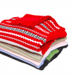 Comfortable colorful sweaters on white. — Stock Photo #6169991