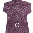 Stock Photo: Stylish,modern violet tunic on white.