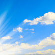 Stock Photo: Beautiful sky with white clouds.