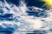Lovely gently sun above sea. — Stock Photo