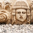 Постер, плакат: Antique abandoned masks on the stage in ancient theatre