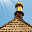 Wooden roof of aged church. - Foto Stock