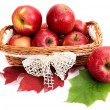 Ripe, juicy apples in the basket. — Foto Stock