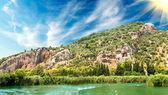 Lykian skalní hrobky. dalyan, turecko. — Stock fotografie