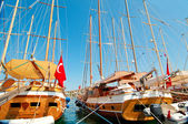 Image of wonderful yachts in the Bodrum. — Stock Photo