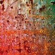 Stock Photo: Surface of rusty steel sheet.