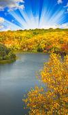 Nice autumnal landscape. — Stock Photo