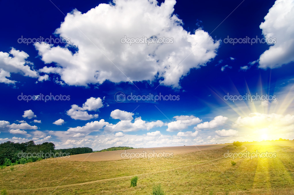 Wonderful rural landscape in finish summer. — Stock Photo #6329493