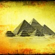 Grunge  background with  Egyptian pyramids. — Stock Photo