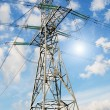 Stock Photo: Wonderful blue sky and electrical pylon.