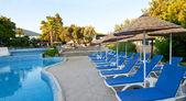 Turkish resort, swimming pool. — Stock Photo