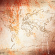 Ancient type world map. — Stock Photo