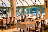 Empty restaurant awaiting visitors. — Stock Photo
