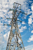 Wonderful blue sky and electrical pylon. — Stock Photo