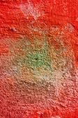 Sucio vieja pared cubierta color pinturas. — Foto de Stock