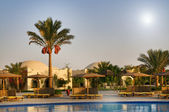 Egyptian resort, swimming pool. — Foto Stock