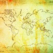 Grunge type world map. — Stock Photo